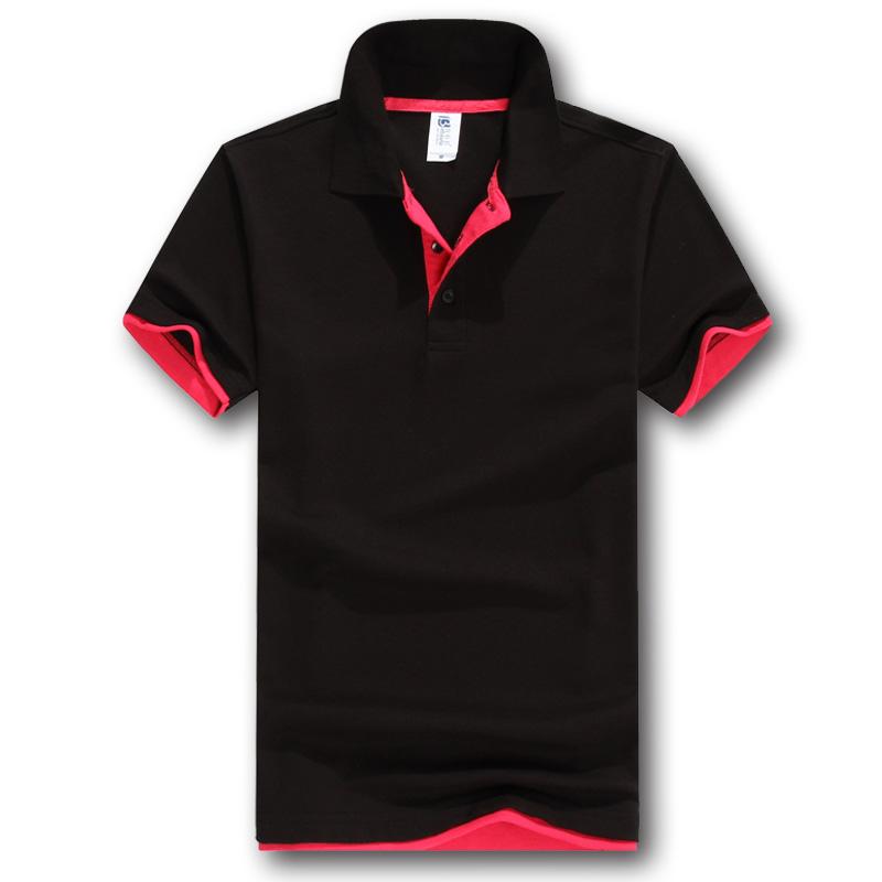 102TBG-A棉涤成人双色门襟polo衫