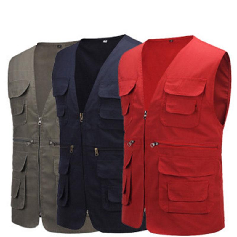 HP073优质纯棉多口袋马甲